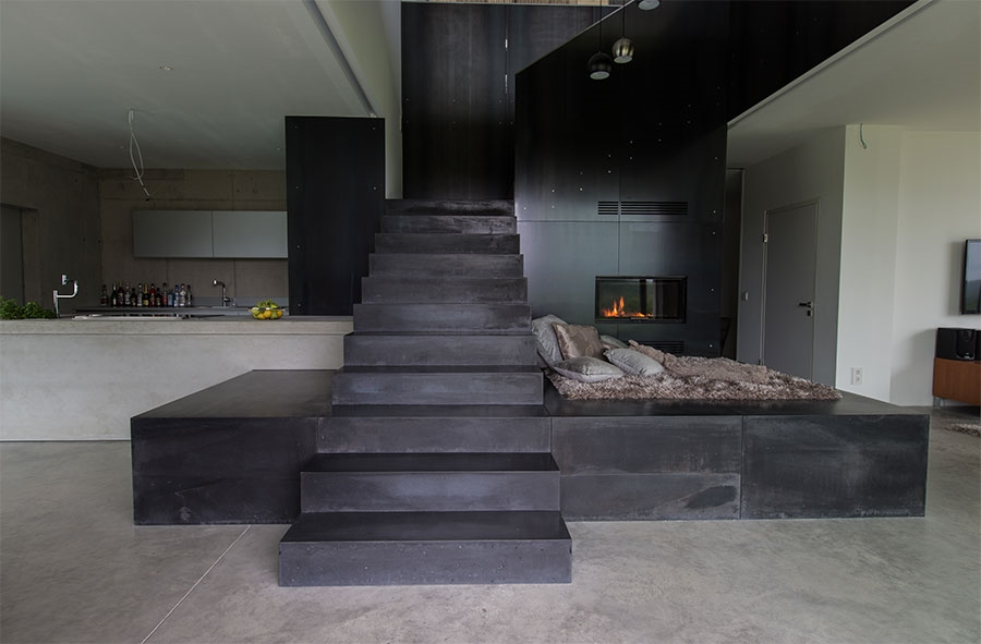 treppe in sichtbeton schwarz kletzenbauer feelandlook. Black Bedroom Furniture Sets. Home Design Ideas